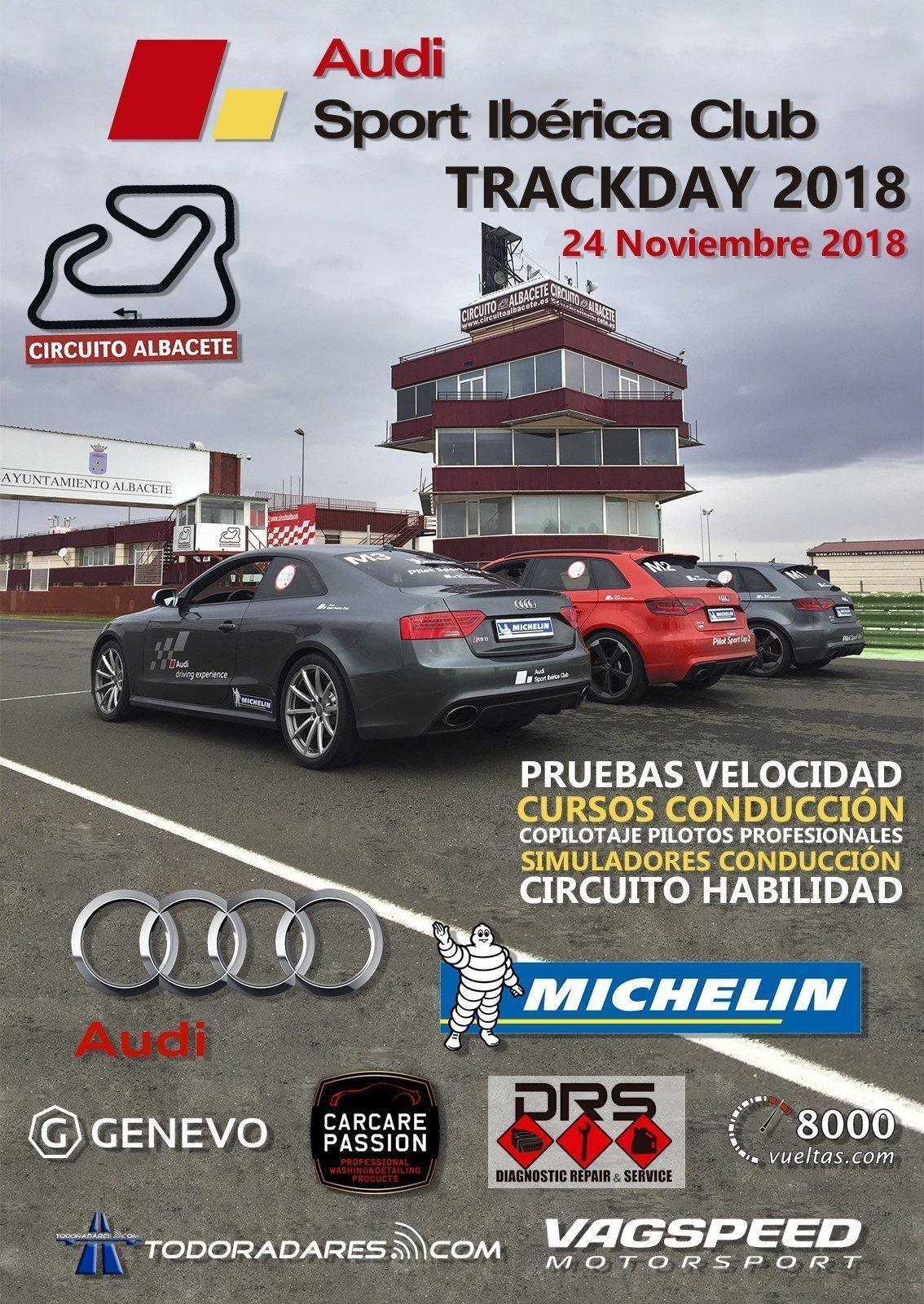 IV Trackday Audi Sport Iberica Club Circuito Albacete 2018