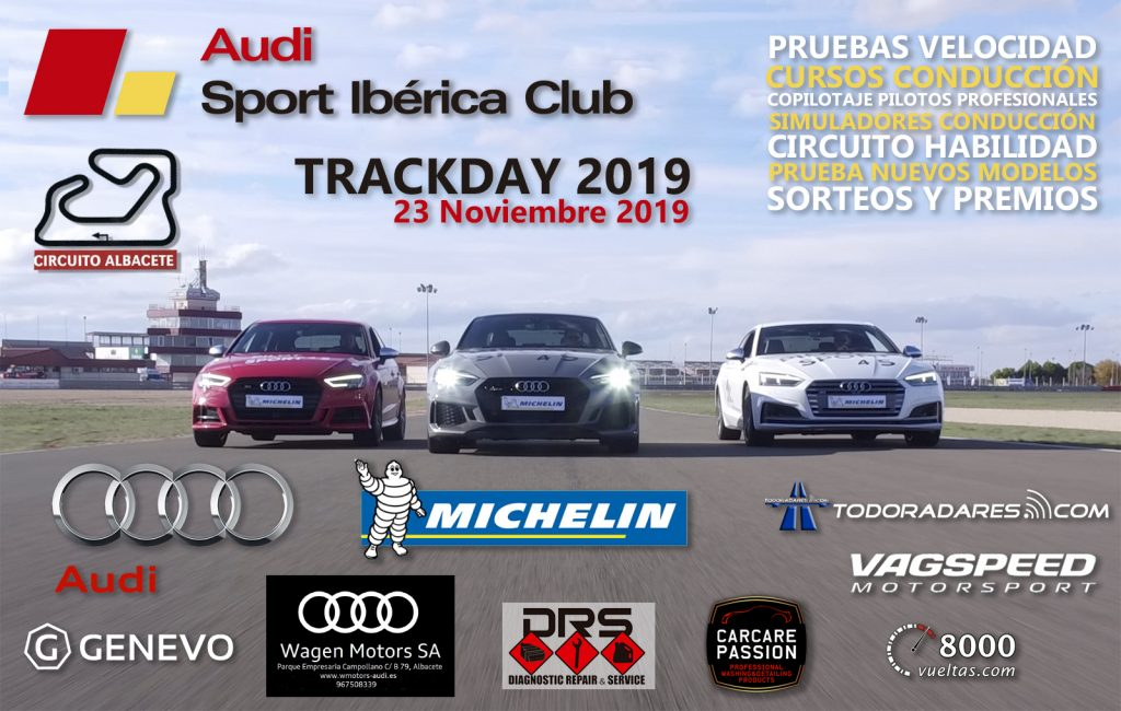 Cartel Concentración Trackday Audi 2019